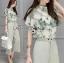 เสื้อผ้าเกาหลี พร้อมส่งเซ็ตเสื้อพิมพ์ลายดอกไม้และกางเกง thumbnail 4