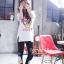 เสื้อผ้าเกาหลี พร้อมส่งเสื้อตัวยาว พิมพ์ลาย Daisy Duck thumbnail 4
