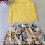 ( พร้อมส่ง) ชุดเซ็ทแบรนด์ ZARA ค่ะเสื้อลูกไม้ทรงกล้ามสีเหลืองสดใส ผ้าทอลูกไม้ลวดลายสวยๆเนื้อนิ่มมีซิปด้านหลังค่ะ มีซับในสายเดี่ยวให้นะคะ thumbnail 4