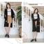 เสื้อผ้าเกาหลีพร้อมส่ง เสื้อคลุมตัวยาว ผ้าไหมพรมเนื้อดี thumbnail 4
