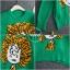 เสื้อผ้าเกาหลีพร้อมส่ง เสื้อไหมพรมถักลายตัวการ์ตูนหนานิ่มอย่างแนว thumbnail 11