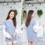 เสื้อผ้าเกาหลีพร้อมส่ง เสื้อไหมพรม ตัดต่อแขนยาวผ้าเชิ้ตฉะลุลาย thumbnail 5