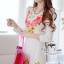 ( พร้อมส่งเสื้อผ้าเกาหลี) เดรสลุคหรูหรา เนื้อผ้ามี textureเป็นคลื่นลอนในตัวนะคะ ดีเทลพิมพ์ลายลวดลายชัด สีสดสวย เก็บทรงเข้ารูปเน้นซิลลูเอทเว้าโค้งสวย ไหล่เย็บยกตั้งขึ้นเล็กน้อยนะคะเสริมบุคลิก เนื้อผ้ามีน้ำหนัก thumbnail 9