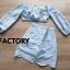 เสื้อผ้าเกาหลีพร้อมส่ง Set เสื้อ Tops แขนยาว + กระโปรงทรงเอ thumbnail 10