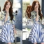 เสื้อผ้าเกาหลี พร้อมส่งเซ็ทเสื้อ+กระโปรง เสื้อผ้า silk satin thumbnail 5