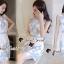 ชุดเดรสเกาหลีพร้อมส่ง Sweet Lace Bule Suquin Dress thumbnail 8