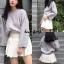 เสื้อผ้าเกาหลีพร้อมส่ง Smooch Sweater เสื้อไหมพรมแขนยาว thumbnail 10