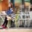ชุดเดรสเกาหลี พร้อมส่ง Cute Mickey strip attractive Denim Dress thumbnail 5