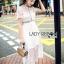 ชุดเดรสเกาหลีพร้อมส่ง เดรสผ้าลูกไม้สีขาวสไตล์แบรนด์ Self-Portrait thumbnail 13