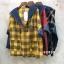 เสื้อผ้าเกาหลีพร้อมส่ง เสื้อแขนยาว ดีเทลช่วงตัวลายสก๊อต thumbnail 6