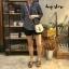 เสื้อผ้าเกาหลีพร้อมส่ง Stripe V Top เสื้อคอวี thumbnail 3