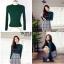 เสื้อผ้าเกาหลีพร้อมส่ง สำหรับงานไหมพรมเนื้อผ้าบางๆยืดหยุ่นได้สูงใส่กระชับ thumbnail 3
