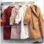 เสื้อผ้าเกาหลีพร้อมส่ง เสื้อโอเวอร์โค๊ตกันหนาวผ้าสักหลาเนื้อดีมีซัปใน thumbnail 4