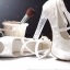 รองเท้านำเข้าพร้อมส่ง รับประกันคุณภาพ ใส่ดี ไม่ซ้ำใครจร้า.. รองเท้าคัทชูส้นสูงหัวเปิดเล็กน้อย หนังกำมะหยี่ฟรุ้งฟริ้ง thumbnail 3