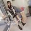 เสื้อผ้าเกาหลีพร้อมส่ง จั้มเปอร์เสื้อเนื้อผ้าไหมพรม ทอลายลูกศร thumbnail 2