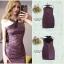 ชุดเดรสเกาหลีพร้อมส่ง Dress สีม่วงกากเพรชวิ้งๆ thumbnail 4