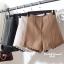 เสื้อผ้าเกาหลีพร้อมส่ง กางเกงขาสั้นเอวสูงแต่งลูกไม้ที่ ชายกางเกง thumbnail 1