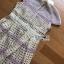 ชุดเดรสเกาหลีพร้อมส่ง เดรสผ้าลูกไม้สีเหลืองพาสเทลสุดหรู thumbnail 8