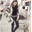 เสื้อคลุมแฟชันไหมพรมเกาหลี thumbnail 1