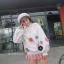 เสื้อผ้าเกาหลีพร้อมส่ง เสื้อผ้านุ่มติดดอกไม้ 3D thumbnail 3