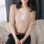เสื้อผ้าเกาหลีพร้อมส่ง เสื้อคลุมไหมพรมผ้าตาข่ายบาง thumbnail 2