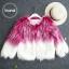 เสื้อผ้าเกาหลีพร้อมส่ง เสื้อคลุมงาน ขนฟูหนายาวแมชทูโทนสีเก๋ thumbnail 4