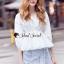 เสื้อผ้าเกาหลีพร้อมส่ง T-Shirt Circle Outfit Sweet Skirt Jean thumbnail 2