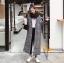เสื้อผ้าเกาหลีพร้อมส่ง เสื้อโค๊ทตัวยาวแขนยาว คอปก thumbnail 2