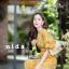 เสื้อผ้าเกาหลีพร้อมส่ง ชุดจั้มสูทขายาวลายดอกไม้เล็กๆ thumbnail 4