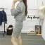 เสื้อผ้าเกาหลีพร้อมส่ง Set ไหมพรม ทรงน่ารัก ใส่คู่กันเป็น Set thumbnail 4