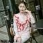 เสื้อผ้าเกาหลีพร้อมส่ง เสื้อแขนยาวลายหงส์สีหวานสดใส thumbnail 2