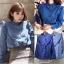 เสื้อผ้าแฟชั่นเกาหลีพร้อมส่ง เสื้อยีนส์แขนยาวผ้านิ่มสวย thumbnail 6