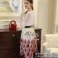 เสื้อผ้าเกาหลีพร้อมส่ง Wite & Red Unity Elegant Lady Beauty Set thumbnail 4