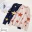 เสื้อผ้าเกาหลีพร้อมส่ง เสื้อหนาวรูปดาว ไหมพรม thumbnail 4