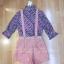 เสื้อผ้าแฟชั่นเกาหลีพร้อมส่ง Set 2 ชิ้นเสื้อคอเต่าแขน 4 ส่วน thumbnail 7