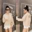 เสื้อผ้าเกาหลีพร้อมส่ง เสื้อไหมพรมฮู้ด thumbnail 5