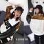 เสื้อผ้าเกาหลีพร้อมส่ง เสื้อตัวยาว หรือ มินิเดรส ผ้า knit ลายดอกไม้ thumbnail 8