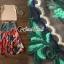 เสื้อผ้าแฟชั่นเกาหลีพร้อม่ส่ง Fashionally Denim-Chiffon Printed Skirt Set thumbnail 8