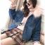 Diana Extra Fur-Collar Denim Jacket thumbnail 3