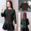 เสื้อผ้าเกาหลีพร้อมส่ง เสื้อไหมพรมทรงเก๋ๆแต่งสีสวยเก๋ thumbnail 2