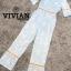 เสื้อผ้าแฟชั่นเกาหลีพร้อมส่ง จั๊มสูทขายาวสีฟ้าพิมพ์ลายดอกไม้สีขาวสดใส thumbnail 6