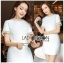 เสื้อผ้าเกาหลีพร้อมส่ง ค็อกเทลเดรสผ้าคอตตอนทวีตสีขาวตกแต่งมุก thumbnail 6