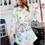 Emmie Elegant Spring Floral Coat with Belt thumbnail 2