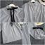 เสื้อผ้าเกาหลีพร้อมส่ง เสื้อผ้าโพลีลายริ้วตรง thumbnail 6