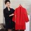 เสื้อผ้าแฟชั่นเกาหลีพร้อมส่ง เสื้อคลุมไหมพรมKorea thumbnail 2