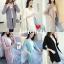 เสื้อผ้าเกาหลีพร้อมส่ง คลุมยาวลายตาราง มีกระเป๋า ผ้านุ่มนิ่ม thumbnail 1