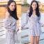 เสื้อผ้าเกาหลีพร้อมส่ง จั้มสุทลายดอกซากุระ thumbnail 8