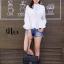 เสื้อผ้าเกาหลีพร้อมส่ง เสื้อเชิ้ตคอจีนแขนยาวทรงสวย thumbnail 4