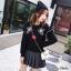 ชุดเดรสเกาหลีพร้อมส่ง เดรสสีดำดูลึกลับน่าค้นหา thumbnail 5