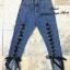 เสื้อผ้าเกาหลีพร้อมส่ง กางเกงยีนส์ ขายาว ทรงบอย ผ้าด้าน thumbnail 3